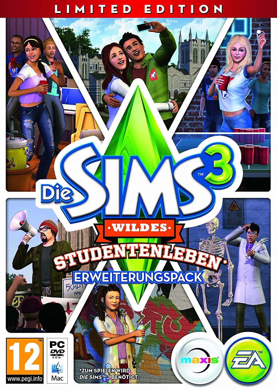 Die Sims 3 Wildes Studentenleben Add On Limited Edition At Pegi Games