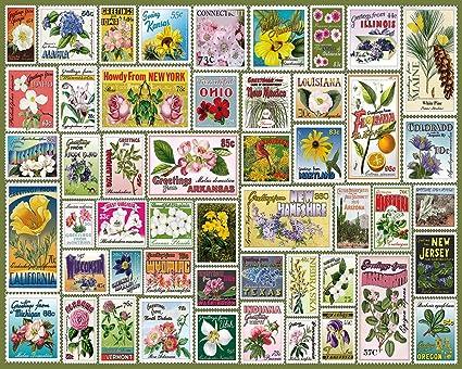 Amazon White Mountain Puzzles State Flower Stamps 1000 Piece
