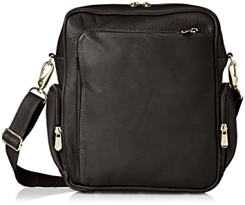 4b41c7e0c14f Piel Leather Urban Shoulder Bag, Black
