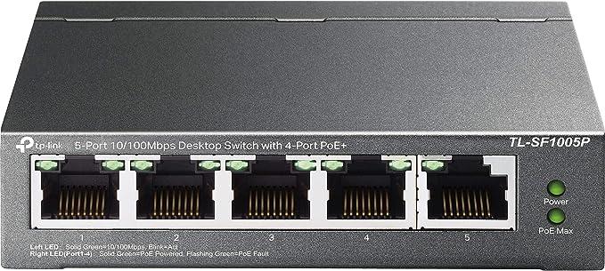Tp Link Tl Sf1005p 5 Port Fast Ethernet Poe Switch Mit Computer Zubehör
