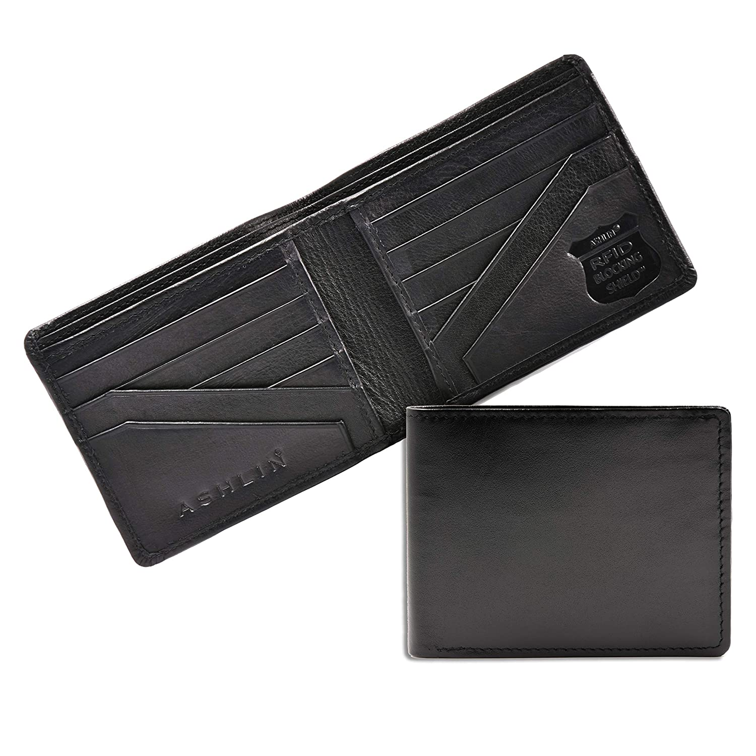 72f6fd1e72bf ASHLIN Men's Bifold Wallet - Best RFID Blocking wallet | 100% Tuscany  Leather (RFID7728-18-01): Amazon.ca: Luggage & Bags