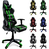Diablo X-One Sedia da Gaming, Sedia Scrivania, Sedi di gioco Racing Gaming Chair (nero-verde)