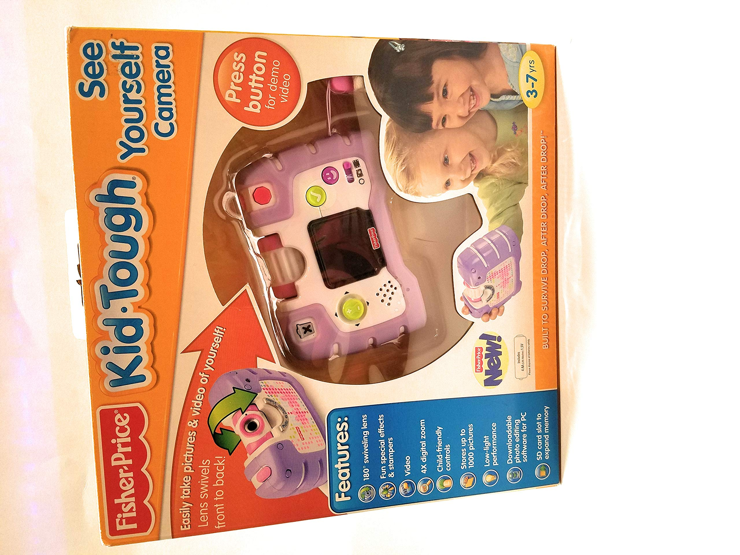 Fisher-Price Kid-Tough See Yourself Camera, Purple by Fisher-Price (Image #1)