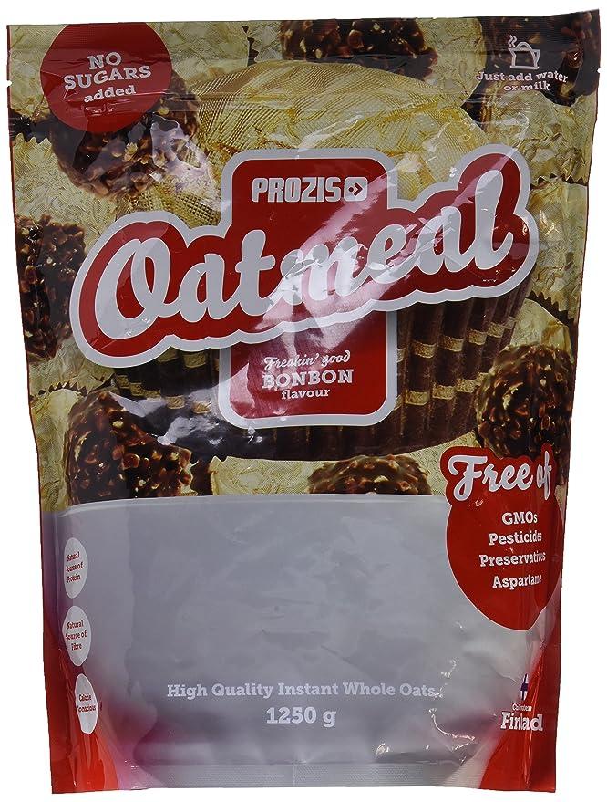 Prozis Oatmeal 1250g - Cereales Repletos de Proteínas, Hidratos de Carbono de Alta Calidad y Fibras Saciantes - Sabor Bonbón - Apto para Vegetarianos ...