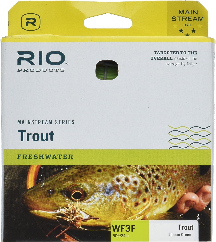 Rio Brands 6-20740 80 ft. Mainstream Floating Fly Line, Lemon Green