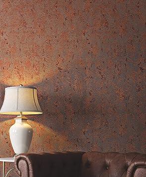 Tapete Kupfer Uni Industrial Braun Glanzend Schlafzimmer Wohnzimmer Oder Kuche Made In Germany 10 05 X 0 53m Avalon 31644 Amazon De Baumarkt
