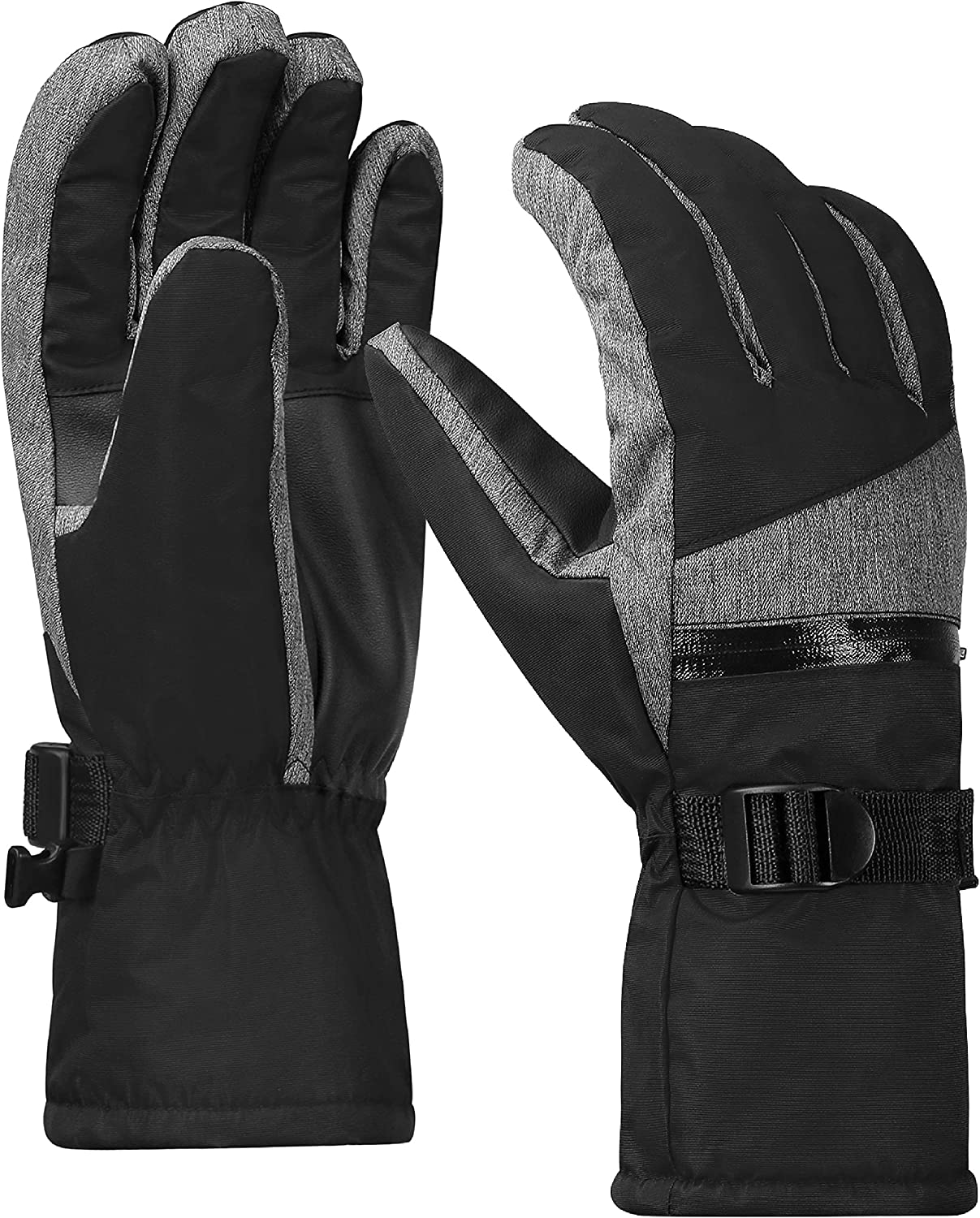 Terra Hiker Men's Waterproof Gloves, Women's Winter Warm Ski Gloves 3M Thinsulate Snowmobile Cold Weather Gloves for Adults : Clothing