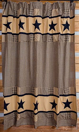 Amazon.com: Jamestown Black and Tan Shower Curtain: Home & Kitchen