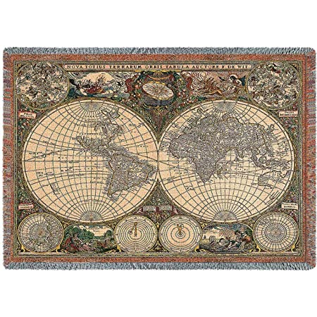 Pure country weavers old world map blanket tapestry throw amazon pure country weavers old world map blanket tapestry throw gumiabroncs Images