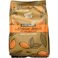 Marque Amazon - Happy Belly Amandes entières, 7x200 g