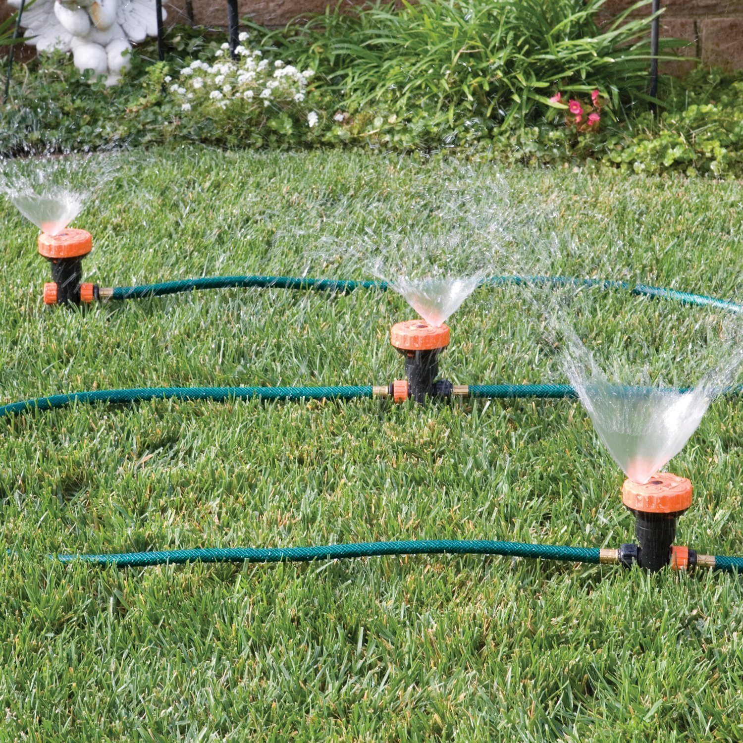 Delicieux Amazon.com : 3 In 1 Portable Sprinkler System With 5 Spray Settings : Lawn  And Garden Sprinklers : Garden U0026 Outdoor