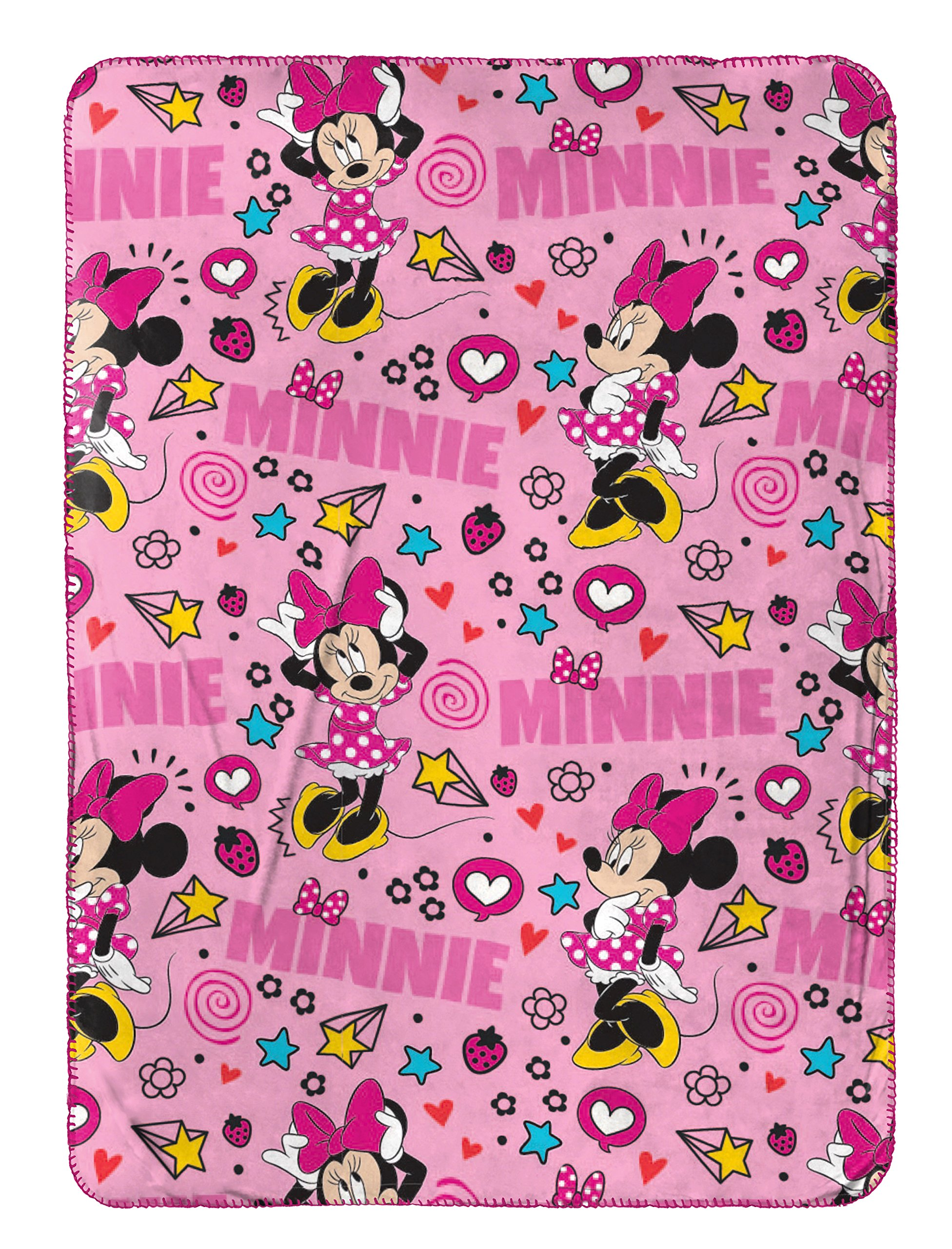 Disney Minnie Mouse Doodle Nogginz Pillow with 40'' x 50'' Travel Blanket Set by Disney (Image #2)