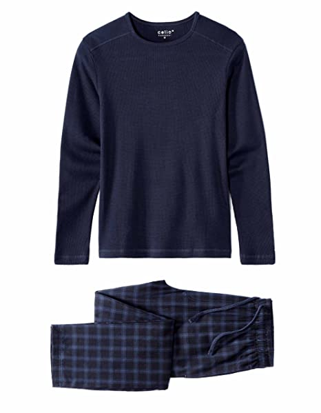Celio JIPYWAF, Conjuntos de Pijama para Hombre, Azul (Navy 250), Medium