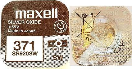 Maxell 371 Mikrobatterie Silberoxide Elektronik