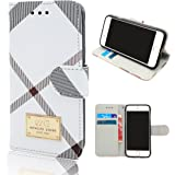 "Iphone 6 Plus Wallet Case Cover,(5.5"" Screen Cellphone Cover),Elegant Luxury Leather wallet Case for Iphone 6 Plus (White)"
