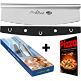 Altair Pizza Cutter & Bonus Ebook Stainless Steel 14 inch Pizza Cutter Rocker Slicer Knife with Heavy Duty Sharp Blade and a Protection Cover Dishwasher Safe !!!