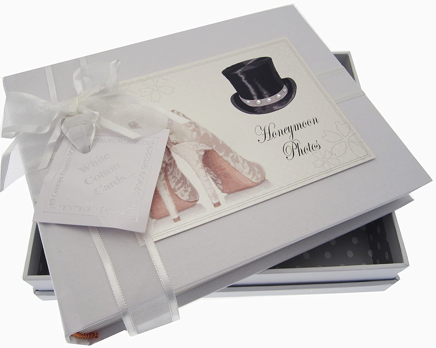 Top Hat//Shoes White Cotton Cards Honeymoon Small Album