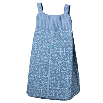 Urban Kanga Organizador de Pañales para Bebé Guarda Pijama y Guarda Pañales para Cuna (Azul Geo)
