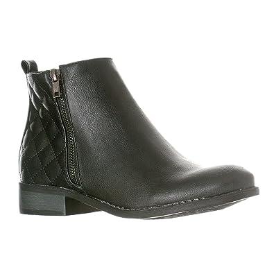 Amazon.com   Riverberry Women\'s Jada Quilted Low Heel Zip-Up Ankle ...