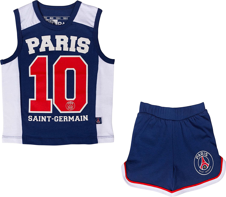 PARIS SAINT-GERMAIN Ensemble D/ébardeur Short PSG Collection Officielle Taille b/éb/é gar/çon