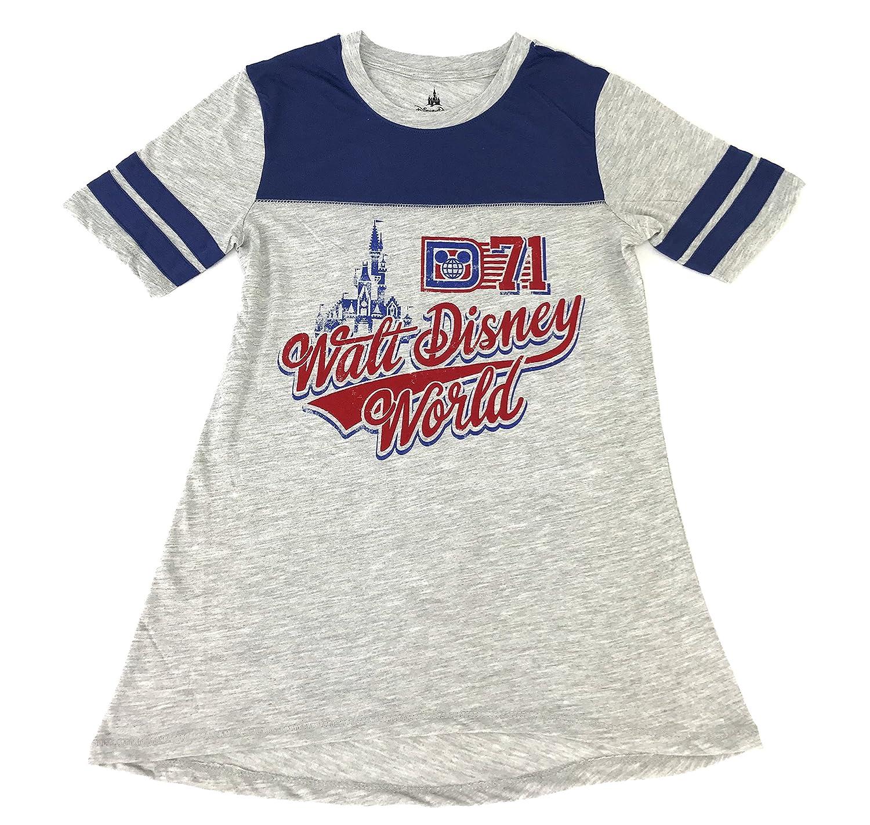 ee3e10b2fd59a1 Amazon.com  DisneyParks Walt Disney World D 71 Retro Ringer Baseball Tee  Shirt Womens Blue (XS)  Clothing