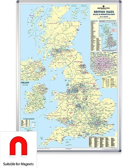 Reino Unido ventas y marketing mapa – mapa de pared grande para ...