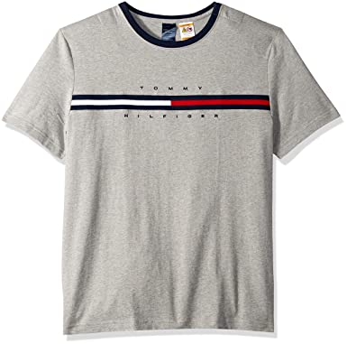 669f9c4bd Tommy Hilfiger Adaptive Men's T Shirt with Magnetic Buttons at Shoulders,  Medium Grey Heather Small