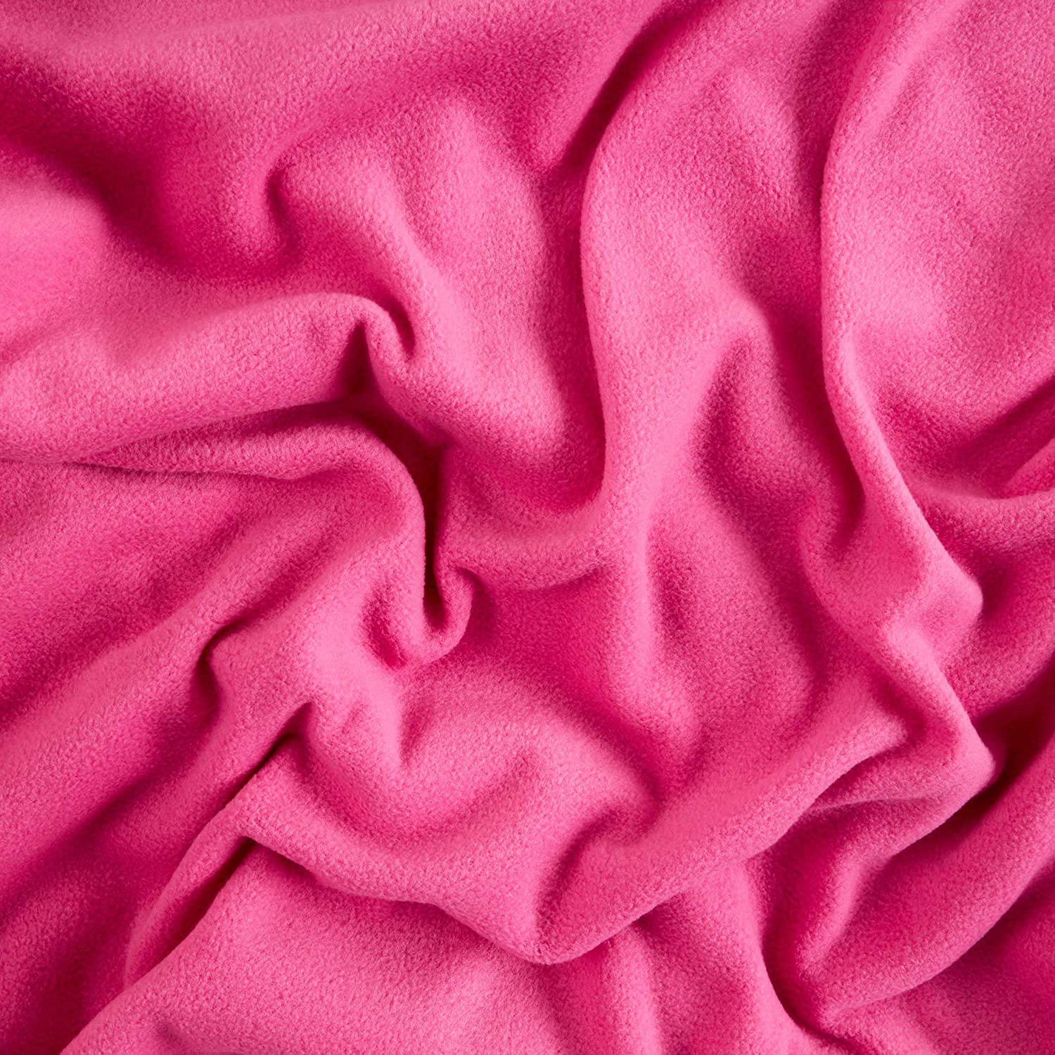 Baum Textiles Winterfleece Micro Chamois Pink Lightning Fabric By The Yard Pink Lightning