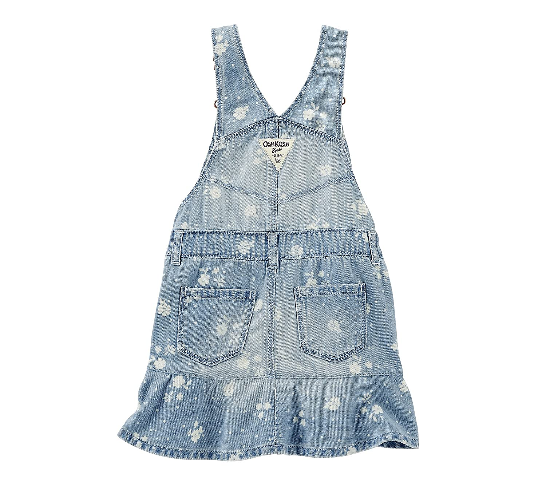 7f97f8a74c4 Amazon.com  OshKosh B Gosh Baby Girls  Floral Printed Denim Jumper 9  Months  Clothing