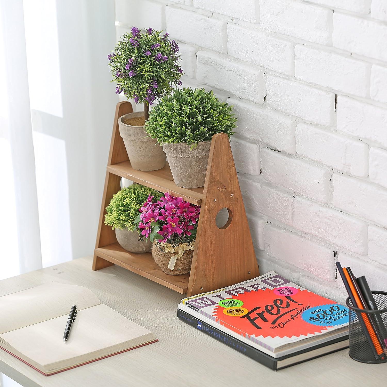 Plan de travail /à /épices 2//étages d/écoratifs Multipurpose Bureau Bois /écran /étag/ères