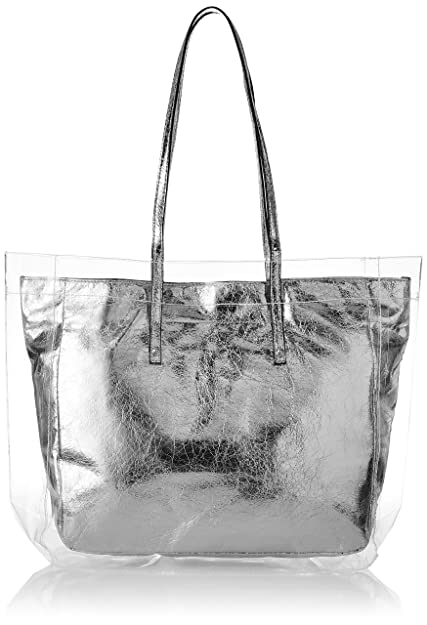 02548a35bd5 Aldo Women s Tote Bag (Silver)  Amazon.in  Shoes   Handbags