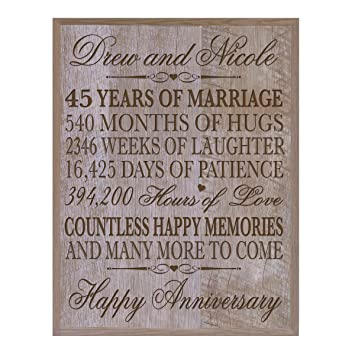 45Th Wedding Anniversary Gift | Amazon Com Lifesong Milestones Personalized 45th Wedding