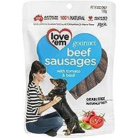 love'em Gourmet Beef Sausages 120g, 1 Pack