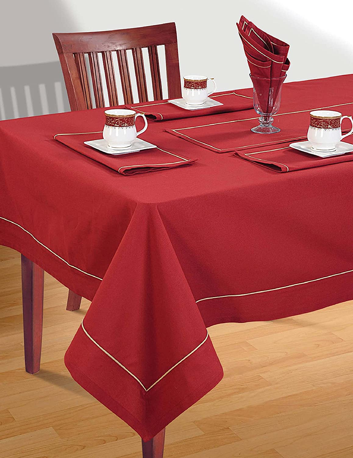 Amazon.com: SCARLET MAROON Tablecloth Spring Decorations For Home Size  60 X  102 Inches: Kitchen U0026 Dining