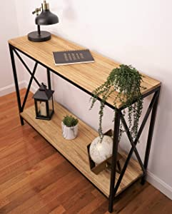 Premium Home Farmhouse Console Table – Sofa Table, Behind Couch Table, Entry way Table Decor, Rustic Wood Console Table, Foyer tables for entryway, Modern Decorative Wood Furniture Narrow Long Hallway