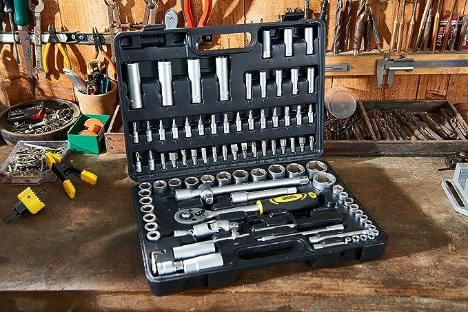 Bohell SH94 - Maletín con juego de llaves de vaso de Œ y 1/2, 94 piezas: Amazon.es: Bricolaje y herramientas