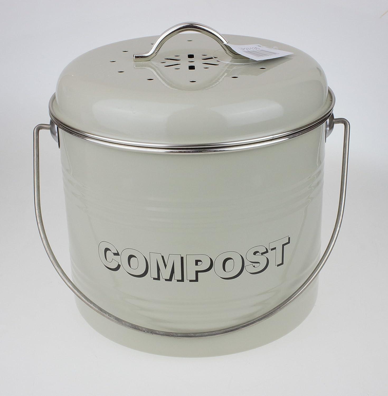 Leonardo Collection Komposteimer, Metall, Salbei