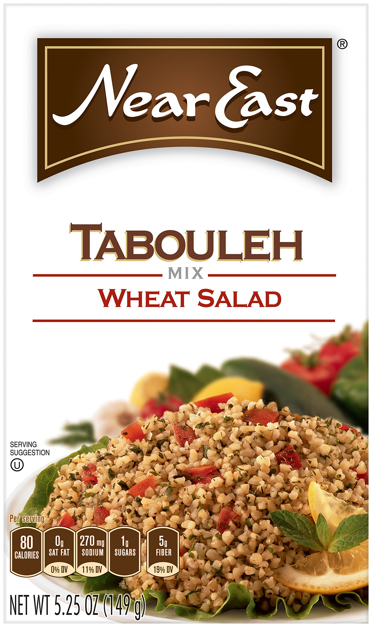 Near East Tabouleh Wheat Salad Mix,5.25 Ounce (Pack of 12 Boxes)