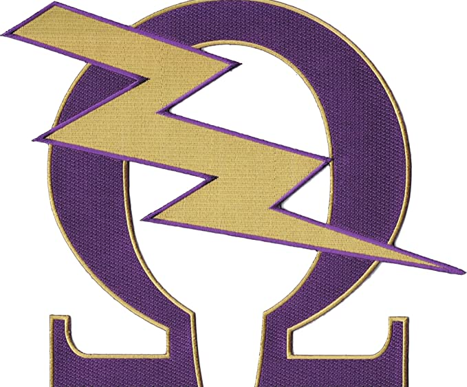 Amazon Omega Psi Phi Que Lightning Bolt Iron On Patch Clothing