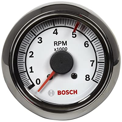 "Actron Bosch SP0F000027 Sport II 2-5/8"" Tachometer (White Dial Face, Chrome Bezel): Automotive"