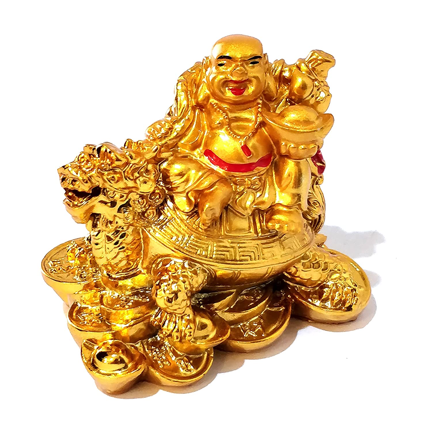 Buy Shivohamtm Exclusive Feng Shui Dragon Turtle Laughing Buddha Small