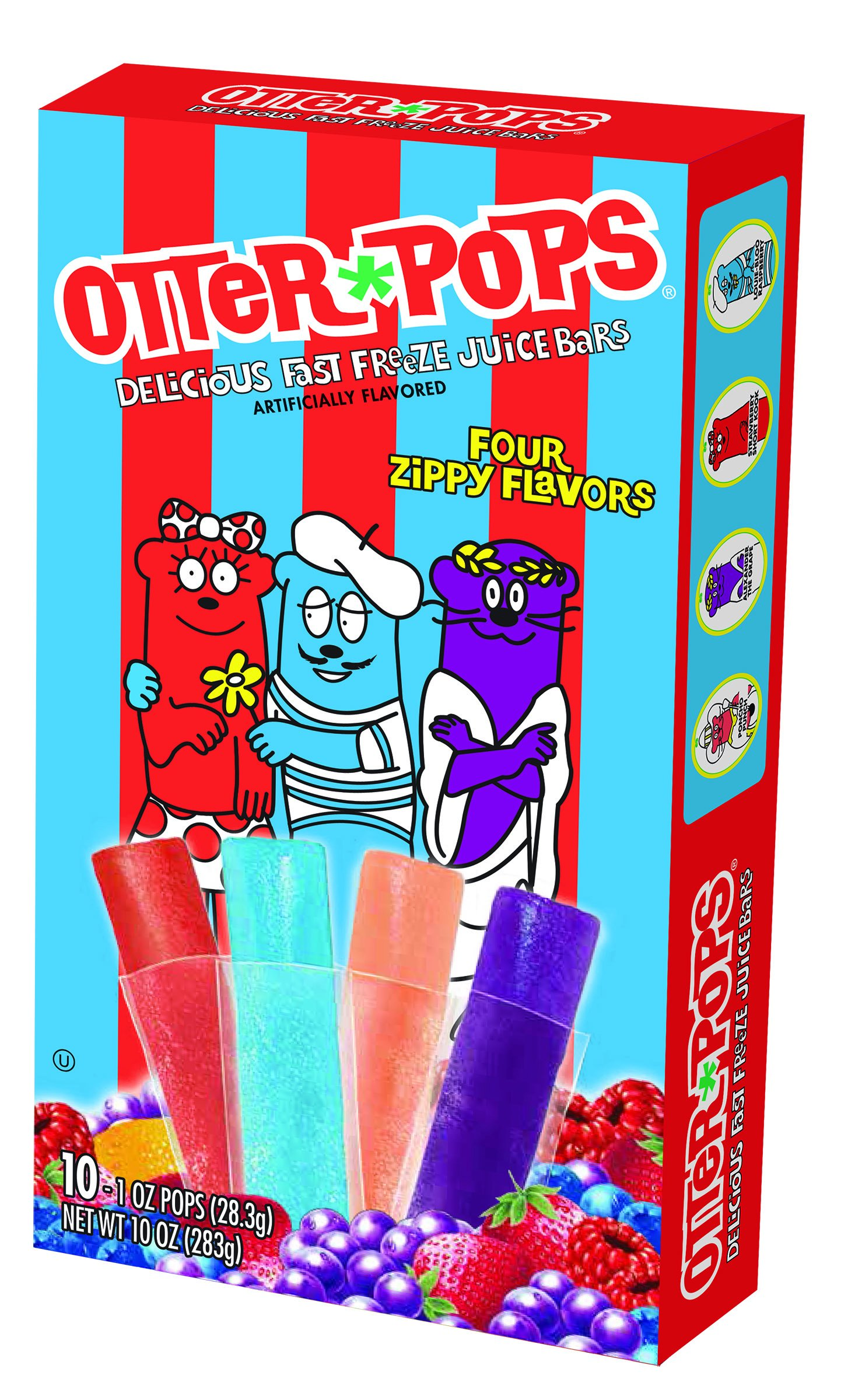 Otter Pops Assorted Bars, 10 Ounce (Pack of 12)