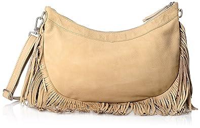 Amsterdam Cowboys Bag Elland, Sacs Portés épaule FemmeBeigeBeige (Sand 230), 38x30x10 cm (B x H x T)