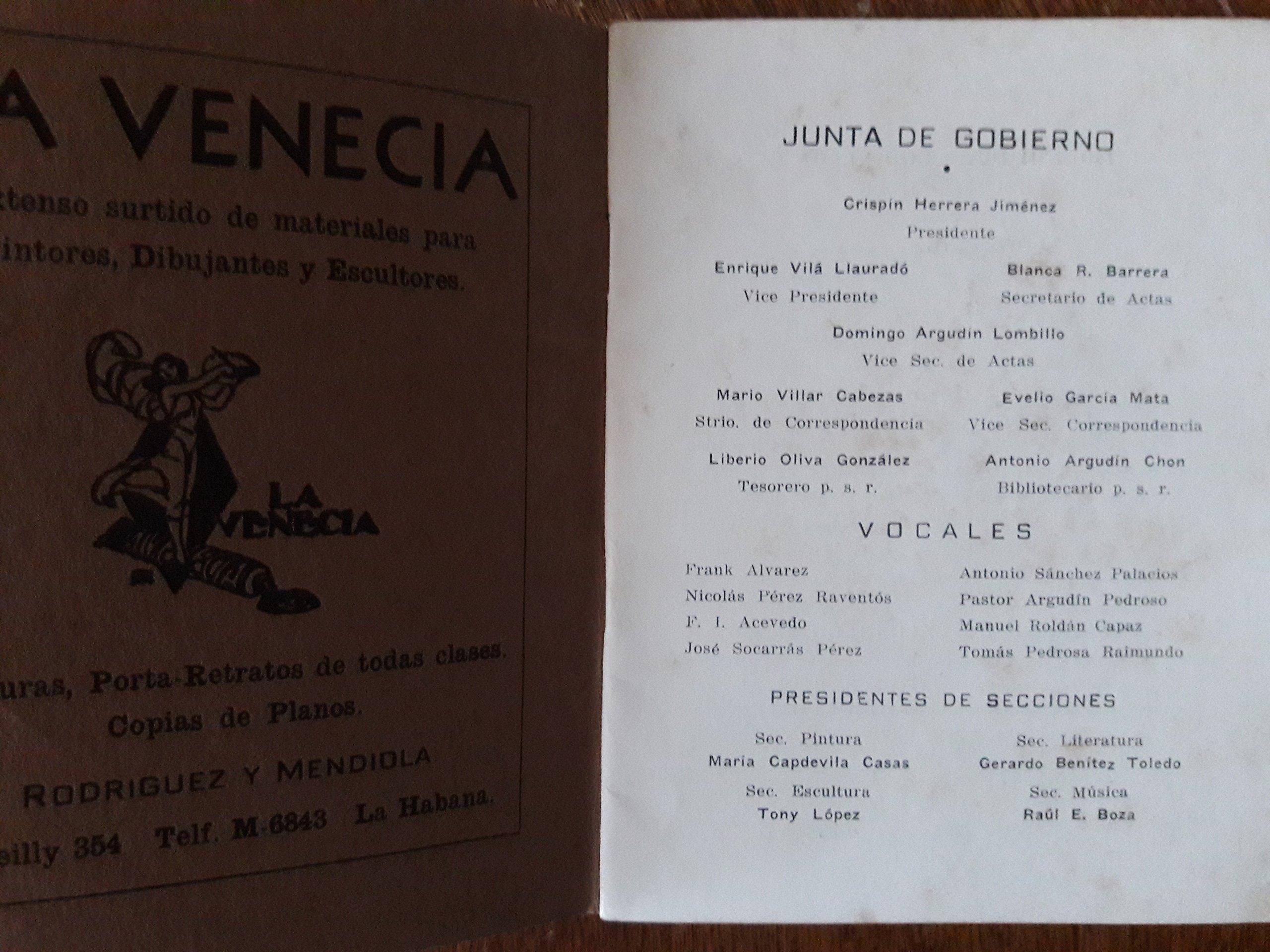 Circulo de bellas artes.XXXII salon de bellas artes, la habana, cuba, 1951.: america duenas irigoyen, raul eguren, manuel fernandez, enrique gay, ...