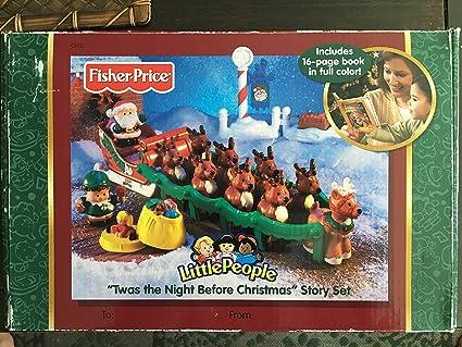 Fisher Price Little People  REINDEER TWAS NIGHT BEFORE CHRISTMAS SANTA/'S SLEIGH