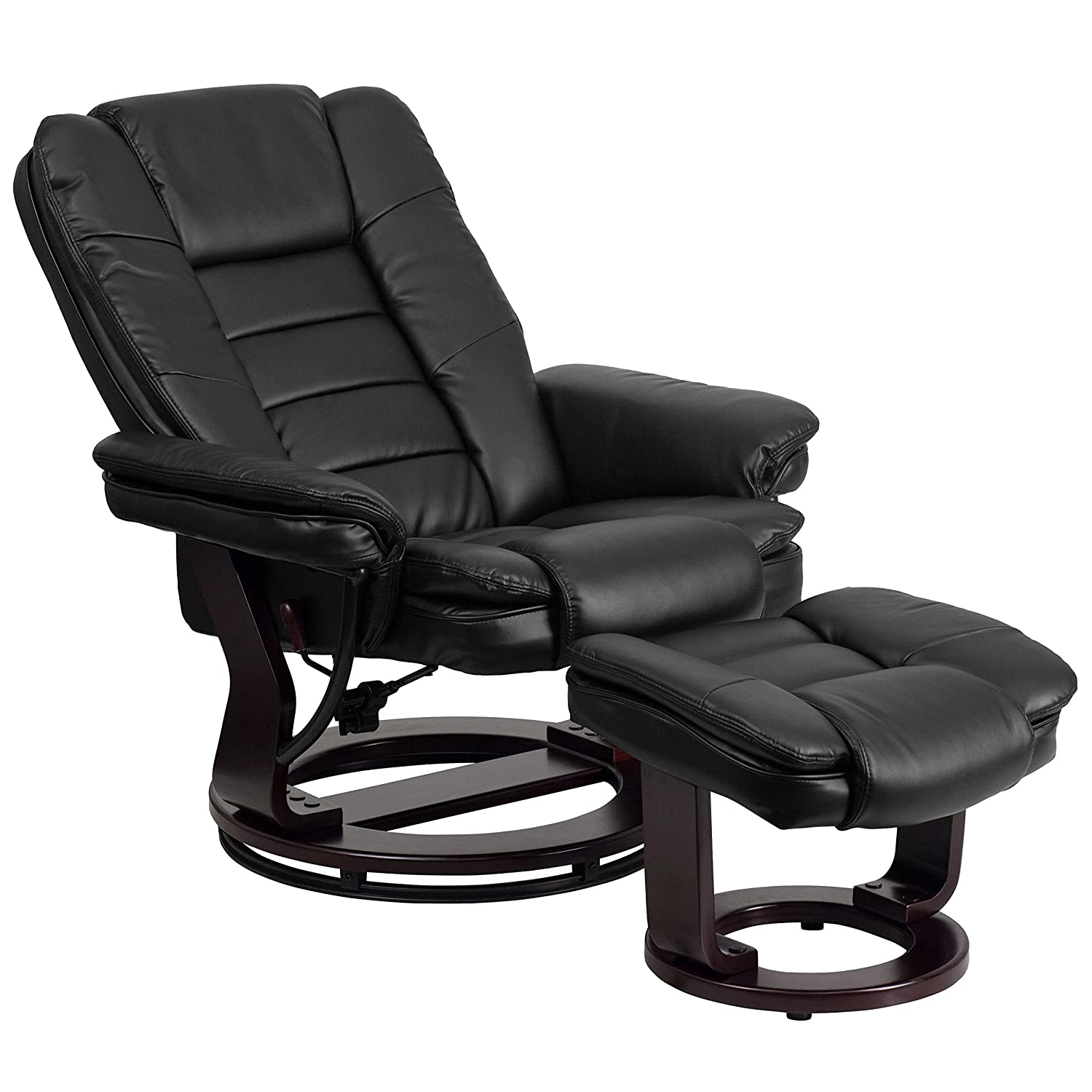 Amazon Flash Furniture Contemporary Black Leather Recliner