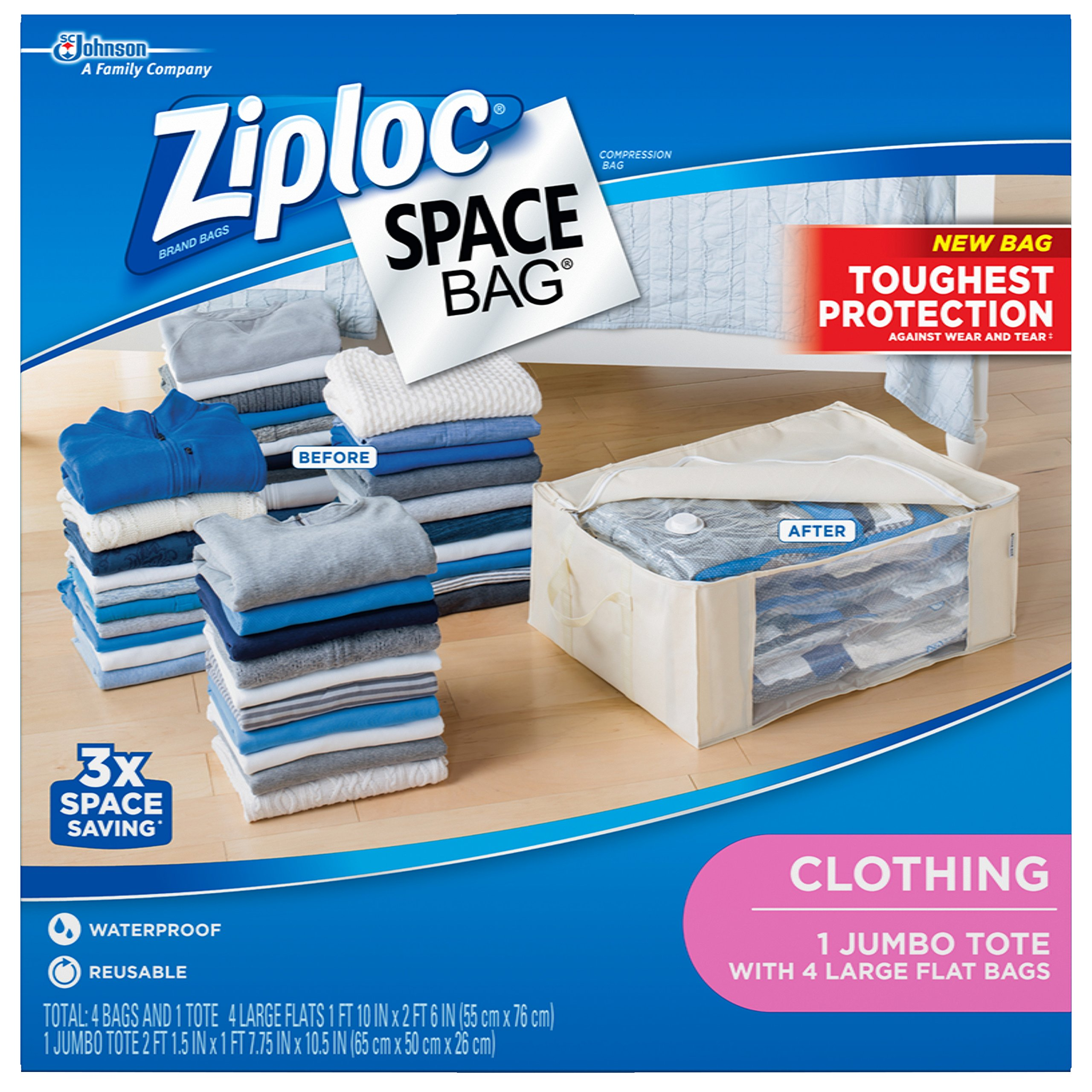 Amazon Com Space Bag Br 86123 4 Vacuum Seal Cube Shaped