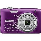 "Nikon COOLPIX A100 Compact camera 20.1MP 1/2.3"" CCD 5152 x 3864pixels Purple,White - Digital Cameras (20.1 MP, 5152 x 3864 pixels, CCD, 5x, HD, Purple, White)"