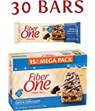 Fiber One Chewy Bar, Oats and Chocolate, 15 Fiber Bars Mega Pack, 21.2 oz (Pack of 2)