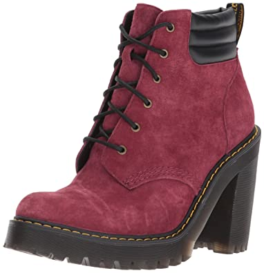 Boots Dr Martens Persephone Wine Soft Buck 7qwLuL